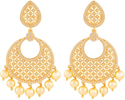 Beautiart BA1_BAEAR1144 Cubic Zirconia Alloy Drop Earring