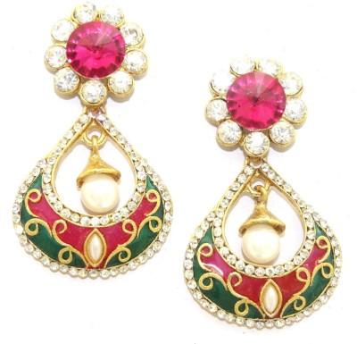 Aarnaa Rani Green Alloy Drop Earring