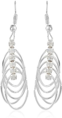Moedbuille Silver Insignia [MBER00610] Cubic Zirconia Alloy Dangle Earring