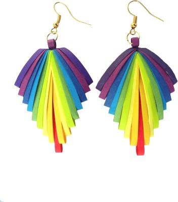 Designer's Collection Quilled Multicolor Latest Designer Paper Dangle Earring
