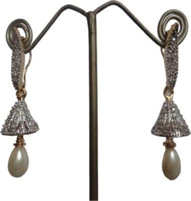 Sri Bansilal Pearls jhumka Cubic Zirconia Alloy Jhumki Earring