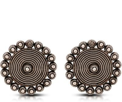 Aanjaneys Indian Ethnics Stylist Silver Stud Earring