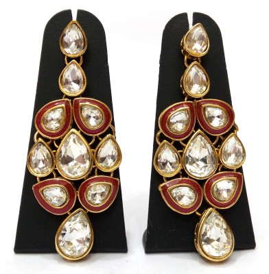 Womaniya Kundan Rendezvous Alloy Drop Earring
