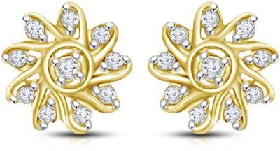Mani Jewel Floral Yellow Gold 18kt Diamond Stud Earring