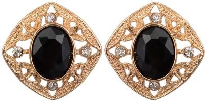 Golden Petals Glam Q Alloy Stud Earring