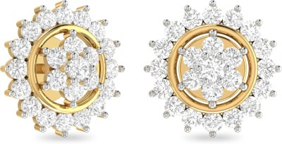 WearYourShine by PC Jewellers PC Jeweller The Flavio Yellow Gold 18kt Diamond Stud Earring