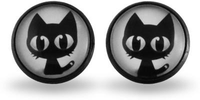 Pinklemon Cat Print Alloy Stud Earring