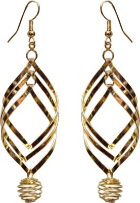 Gracent Golden Diamond Shape Hangings Alloy Drop Earring