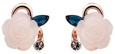 Roma Brothers Resin Flower1 Cubic Zirconia Alloy Stud Earring