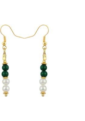 Pearlz Ocean Appealing Pearl, Jade Alloy Dangle Earring