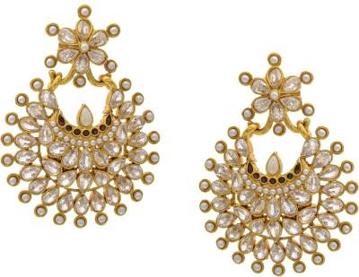 Hyderabad Jewels Beautiful Antique Hangings Onyx Copper Chandelier Earring