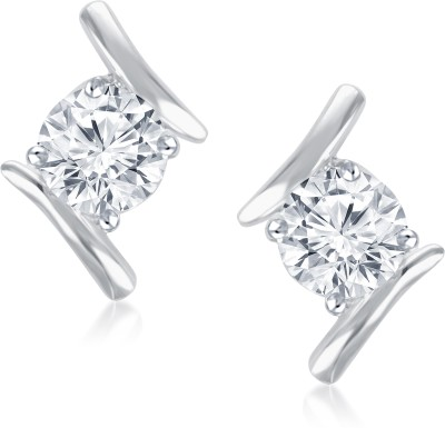 Meenaz Vivid Extravagance Solitaire Alloy Stud Earring