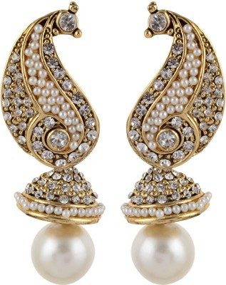 Gracent Peacock Inspired Classy and Elegant Brass Jhumki Earring