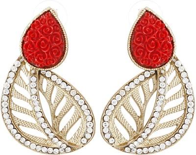 Radius Red Rose Zircon Metal Stud Earring
