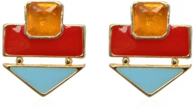 Crunchy Fashion Color Rush Red Beachy Alloy Stud Earring