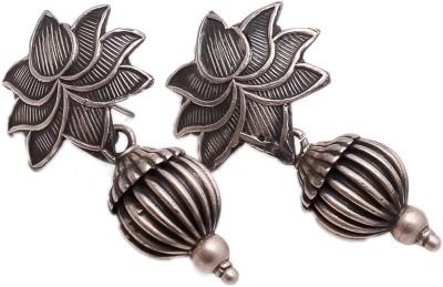 Jewels India Lotus Sterling Silver Stud Earring
