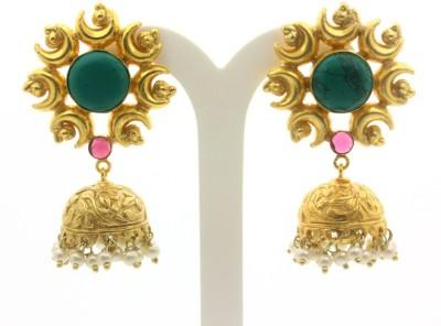 Eighth Fold Eighth Fold Lustrous Jhumki Brass Jhumki Earring