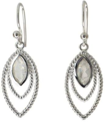 Aabhushan Aabhushajewels Moonstone Sterling Silver Dangle Earring