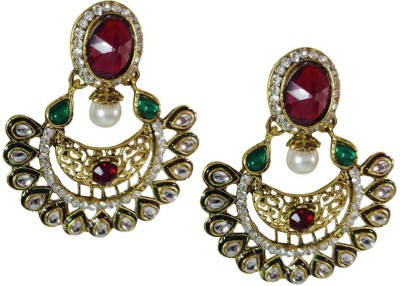 AsiaCraft gold plated Metal Drop Earring