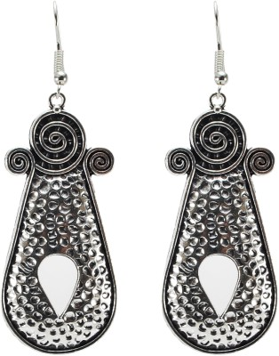 TwishQ Handmade White Metal Dangle Earring