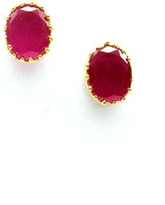 E-Designs TOP76GJ152-175 Cubic Zirconia Brass Stud Earring