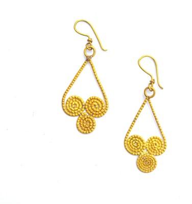 Art Godaam Dhokra Tribal 0016 Brass Dangle Earring