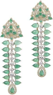 Mehtaphor Leena_2 Crystal Brass Drop Earring