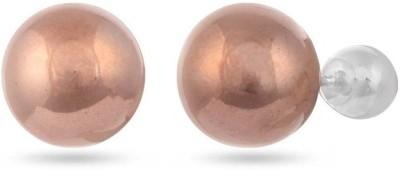VelvetCase Rose Gold Ball Post Studs Silver Stud Earring