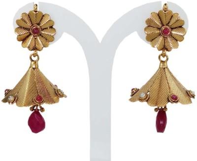 Anjan Sensational Designer Golden Alloy Jhumki Earring