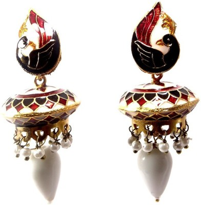 Shiv Kutumb Meenakari Metal Stud Earring
