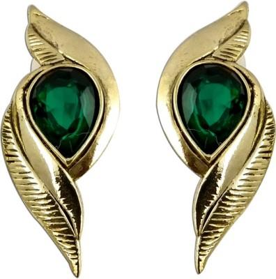 The Fine World Cutwork Designer Zircon Metal Drop Earring