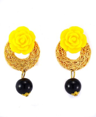 imillery imillery yellow rose Alloy Drop Earring