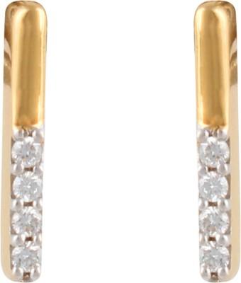 Gothis Strait Line Gold Stud Earring