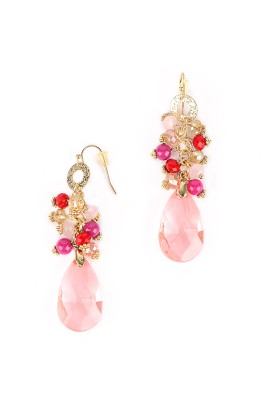 Rhea Rose Drop Crystal Dangle Earring