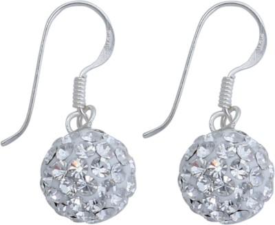 JHL Silver Swarovski Studs Silver Dangle Earring