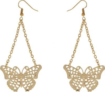 Niara Golden Butterfly Metal Dangle Earring
