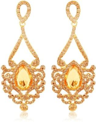 Moedbuille Golden Drop Earrings [MBER00332] Cubic Zirconia Alloy Drop Earring