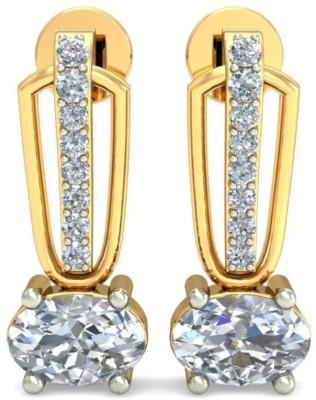 Demira Jewels Stunning Time- Honoured Yellow Gold 18kt Diamond Stud Earring