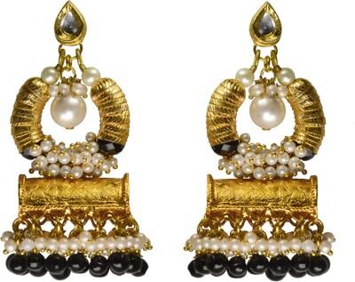 Rasaam Basket Dull black Beads Alloy Chandbali Earring