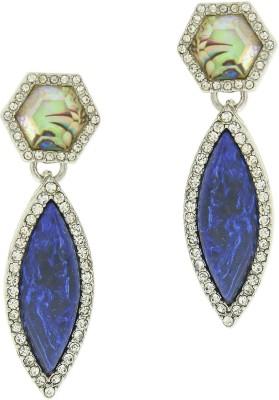 Oomph Silver, Blue & Multicolor Crystal Fashion Jewellery for Women, Girls & Ladies Metal Drop Earring