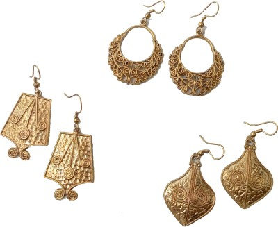 Gennext gold-authentic Alloy Chandbali Earring