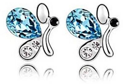 Womanwa Trendy Butterfly Metal Stud Earring