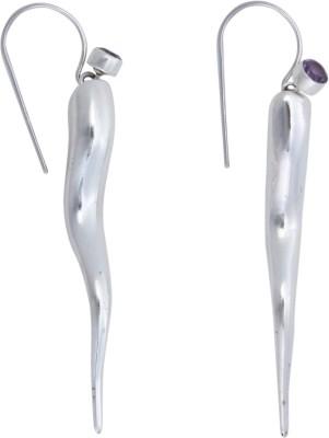 JHL Silver Long Lady Design Silver Dangle Earring