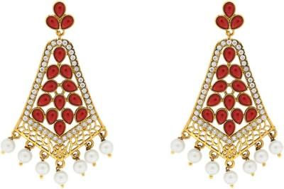 Abhijewels Cubic Zirconia Alloy Dangle Earring