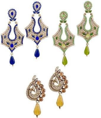 Buyclues RCCJ3443 Crystal Brass Earring Set
