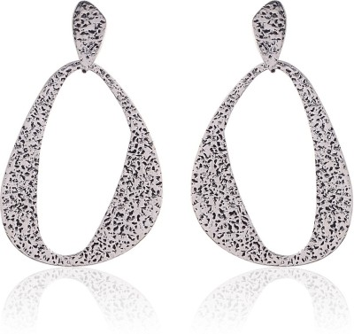 Thingalicious Hammered Alloy Drop Earring