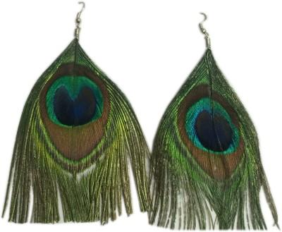 Loops n knots Peacock Alloy Dangle Earring