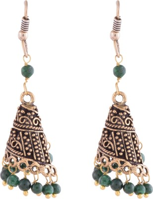 Ganapathy Gems Oxodised Brass Plated Alloy Dangle Earring