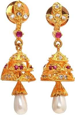 Be You Real Look Brass Jhumki Earring