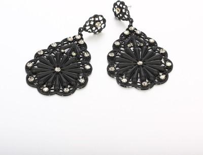 Panriya Panriya Black twin flower earings Brass Drop Earring